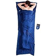 Bahidora Hüttenschlafsack mit Reißverschluss, Schlafsack Inlett. Mikrofaser Schlafsack, InlaySchlafsack, Reiseschlafsack (220x90xm)