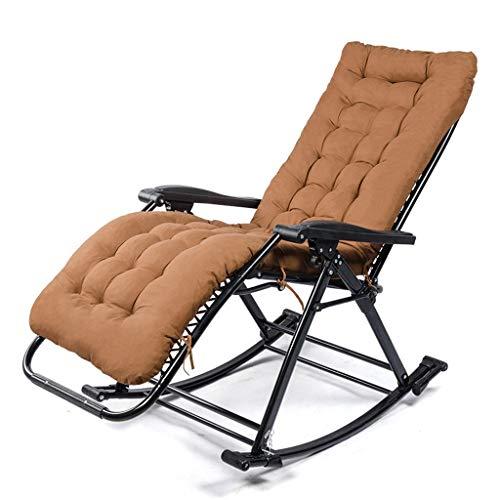 Chaise paresseuse Pause déjeuner Chaise pliante Chaise berçante pratique Casual Chaise facile pour adulte (Couleur : Brown)