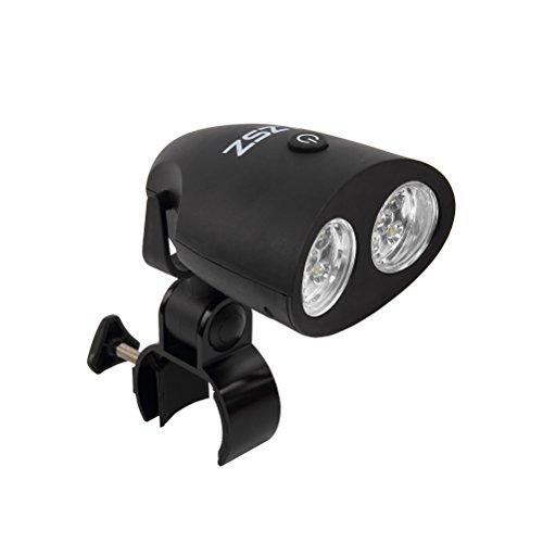 ZSZT LED BBQ Grill Lampe Wasserdichte 10 super helle LED-Leuchten 120 Lumen 360-Grad-Drehung Bestes LED BBQ-Licht für jedes Gas/Kohle/Elektrogrill Inklusive Aufbewahrungstasche (Push Button)