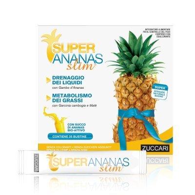 Zuccari Super Ananas Slim Integratore Alimentare per il Drenaggio dei Liquidi - 25 Bustine