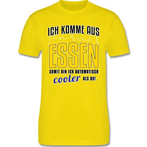 Städte - Ich komme aus Essen - Herren Premium T-Shirt Lemon Gelb