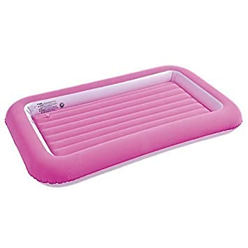 JILONG CHILDRENS KIDS INFLATABLE SAFETY FLOCKED AIRBED KIDDY TODDLERS CAMPING TRAVEL AIR BED MATTRESS Pink Amazoncouk Kitchen Home