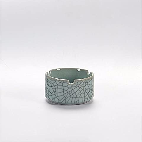 LOSTRYY Céladon cendrier personnalité créative céramique mini trompette salon fumée ornements de porcelaine ronde en porcelaine, H