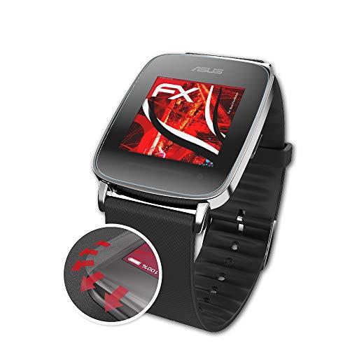 atFoliX Schutzfolie passend für Asus VivoWatch Folie, entspiegelnde & Flexible FX Bildschirmschutzfolie (3X)