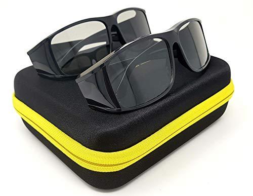 2X Hi-SHOCK Passive 3D-Brille Sierra für 4K 3D TV & 3D Kinos | komp. mit AG-F420 / PTA417 / ZCW000 | [Polarisations-3D | große Linsen]