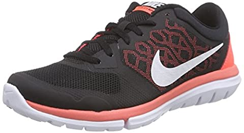 Nike Damen Wmns Flex 2015 Run Laufschuhe, Schwarz (Black/White-Hot Lava),