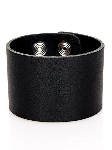 Lederarmband Herren breit schwarz Leder Armband Herrenarmband echtes breites Leder Wickelarmband Surfer Style größenverstellbar