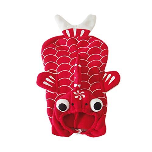 UKCOCO Funny Pet Dog Cat Kleidung für Halloween Weihnachten verkleiden Sich Cosplay Goldfish - Größe - Goldfish Kostüm