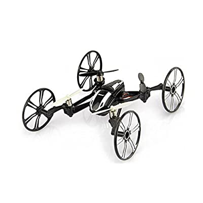 Babrit Elite U841 6-Axis Gyro 2.4Ghz 4-in-1 RC Quadcopter RC Car with HD Camera - Black