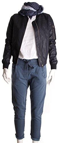 basic.de - pantaloni da jogging con ampio orlo e coulisse Jeansblau Stonewashed