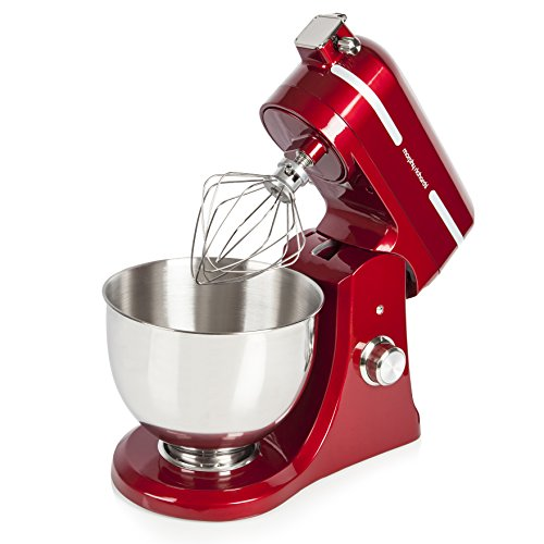 Morphy Richards 400007 Professional Diecast Stand Mixer with Guard – 800 W, Red