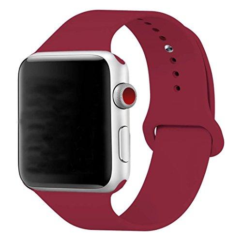 Band für Apple Armbanduhr 38mm, guangzhi New Design Soft Silikon Sport Handgelenk stapß Ersatz Band für iWatch Serie 1/2/3, Sport, Edition, 38mm, schwarz (Iphone 4 Fälle, Die Sport-teams)