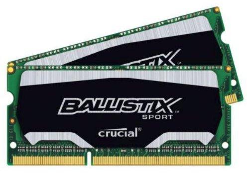 Crucial Ballistix Sport 8gb Kit 4gbx2 Ddr3 1866 Pc3-14900 Sodimm Laptop Memory Bls2k4g3n18aes4 Bls2c4g3n18aes4