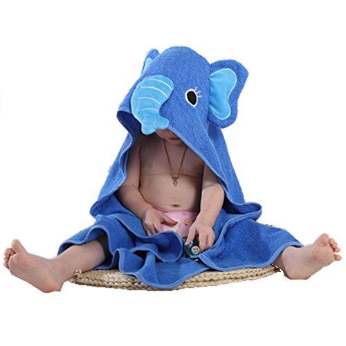 zenhandtuch im Elefanten-Design – 100% Flauschige Baumwolle 90*90 cm (Junge Elefant-baby-dusche)