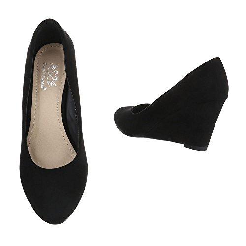 Ital-design - Zapatos De Plataforma Schwarz Ek-94 Para Mujer