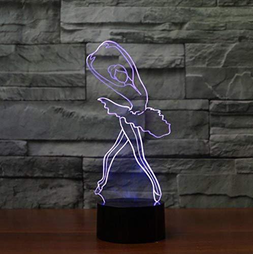 Nachtlicht, Halloween, Weihnachten3D Ballett Mädchen Nette Ballerina Nachtlicht LED Tischlampe Für Kinder Kinder Geschenk Weihnachten Innendekor Baby Schlaf Leuchte -