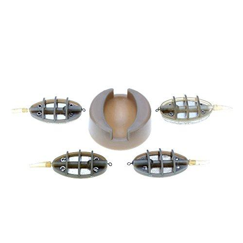 Sypure (TM) 30 g 40 g 50 g 60 g Mangeoire à pêche à la carpe plomb Sinker Leurres de pêche feeder Set Professional outils de pêche