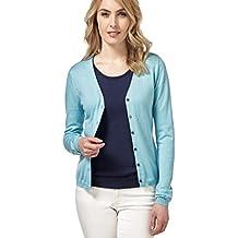 2793bb6da66d78 Wool Overs Weicher Cardigan mit V-Ausschnitt aus Baumwoll-Seide für Damen