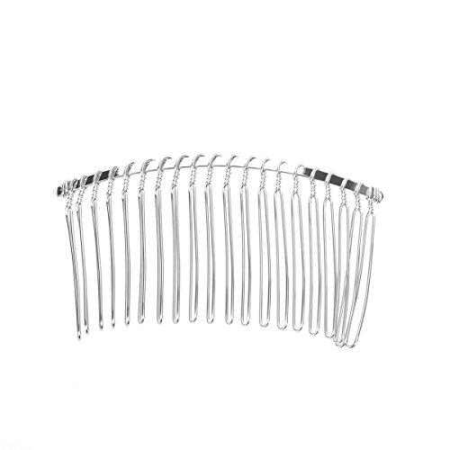Tinksky les 20 dents 7,8 cm fantaisie métallique cheveux Clip peigne Wedding Bridal Veil peigne