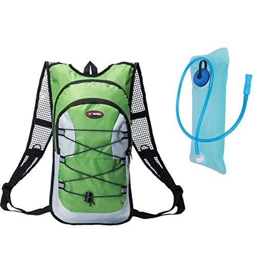 WJH Outdoor-Sport reiten Wassersack, Fahrradtasche Wandern Reisewassersack Männer und Frauen Rucksack Tasche,Green