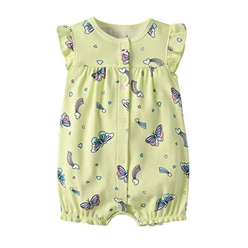 Baby Strampler Mädchen Jumpsuit Neugeborenes Sommer Pyjama Baumwolle Kurzarm-Body 9-12 Monate
