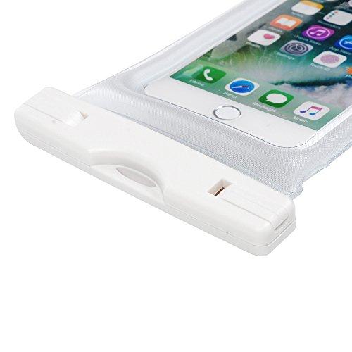 Custodia Impermeabile - STXMALL Cover Impermeabile Universale 6 Pollici Waterproof Cover Subacquea Case Impermeabile con Borsa Pouch per iPhone 7(Plus), 6s/6(Plus), 5/SE/5S/5C, per Samsung Galaxy A5/A Trasparente