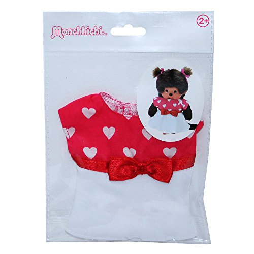 Monchhichi - Auswahl Boutique Fashion - Puppenkleidung Mode Kleidung, Style:Herzchen-Kleid (Monchichi Kleidung)