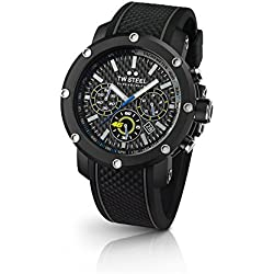 TW Steel–Reloj de pulsera hombre VR46Valentino Rossi analógico de cuarzo caucho TW de 937