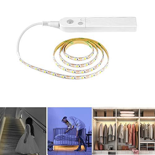 elegantstunning Elegante 3M-LED-Lichtleiste mit Bewegungsmelder für Schrank, Schrank, Treppen, Flur, Dekor Weißes Licht -