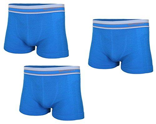 Brubeck 3er Pack Merino Herren Boxershorts | Atmungsaktiv | Sport | Unterhose | Funktions-Unterwäsche | Briefs | Retro| 41% Merino-Wolle | BX10870