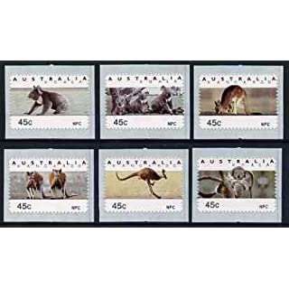 Australia 1994 Australian Wildlife (2nd Series) self adhesive set of 6 u/m (inscribed NPC), similar to SG 1459-64 ANIMALS KANGAROOS KOALAS BEARS SELF ADHESIVE JandRStamps