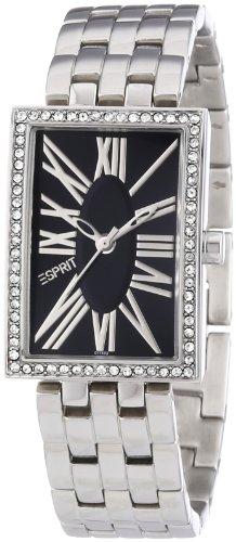 esprit-es101742002-splendid-roman-montre-femme-quartz-analogique-cadran-noir-bracelet-acier-argent