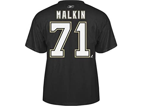 Evgeni Malkin Pittsburgh Penguins Black Reebok Name & Number T-shirt