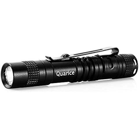 Quarice®Mini LED Linterna [CREE Chip Alto Brillo Bolígrafo Diseño] Lightflash de Mano Con Clip 500 Lúmenes Penlight Deportivo de Bolsillo para Aire Libre Outdoor Deporte