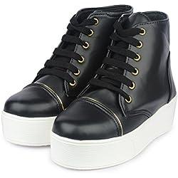 Do Bhai Stylish Boot-Bomb for Womens (Euro40, Black)