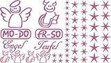 Autoaufkleber Sticker Aufkleber Set für Auto Schriftzug Engel Mo-Do Fr-So Teufe (044 magenta)