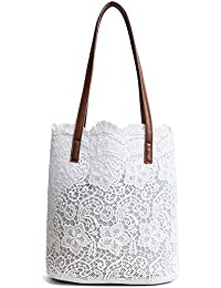 1568498baf Amazon.it: borsa bianca - Beige: Scarpe e borse