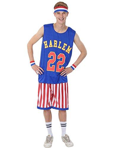 Herren Basketball Harlem Globetrotters Hirsch Verkleidung Kostüm Extra -