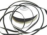 CaPiSo 50m Rolle 3mm Schleifenband,Satinband,Geschenkband,Band Geschenk,Satin (Schwarz)