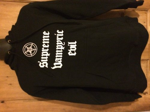 CRADLE OF FILTH - SUPREME VAMPYRIC EVIL - OFFICIAL MENS HOODIE (L) 3dfbfcd0a4ecf