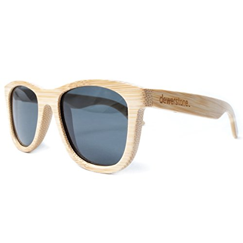 Dewerstone cirros Bambus Sonnenbrille Natur Holz Polarisierte Objektive