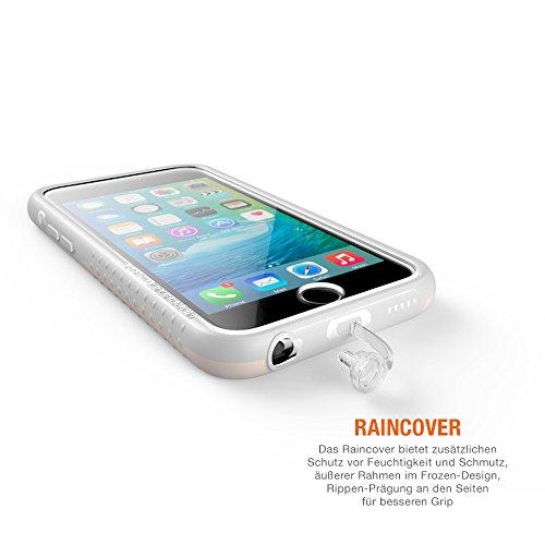 Morpheus Labs M4 iPhone 6 BikeKit Fahrrad Handyhalterung für Apple iPhone 6/6S, Halterung iPhone 6, Handyhalter Fahrrad, iPhone 6 Fahrradhalterung, iPhone 6s Fahrradhalterung, sichere Handy Halterung, iPhone 6 Bike Mount & iPhone 6 Hülle, einfache Handhabung, stabile Lenker-Befestigung für das Handy für Fahrrad Navigation, inkl. RainCover, anthrazit [Dark Slate]