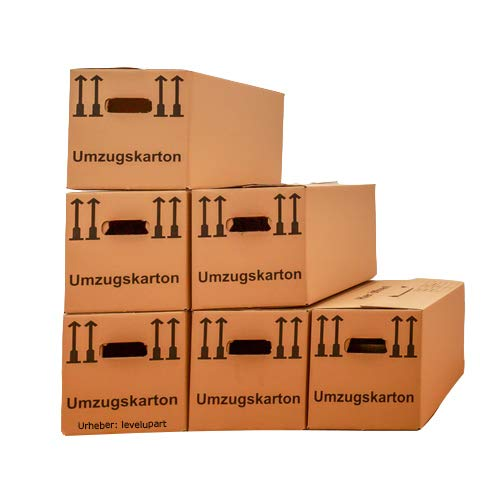 SAXONICA Umzugkartons Profiware, 25 Stück, STABIL + 2-Wellig - Karton Verpackung Kisten Bücher Umzug