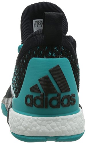 adidas Crazylight Boost 2.5 Low, Tongs Homme Turquoise / Noir / Jaune (Verimp / Negbas / Dorsol)