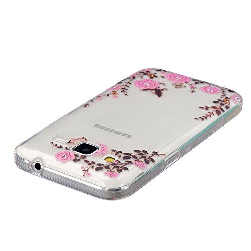 iPhone 6 Hülle, iPhone 6S Hülle, iPhone 6 / 6S Silikon Hülle Tasche Handyhülle [Kratzfeste, Ultra Slim] TPU Bumper Case Weiches Klare Ultradünne Schutzhülle, SainCat Silikon Crystal Kirstall Clear Cas Schmetterling rosa Blume