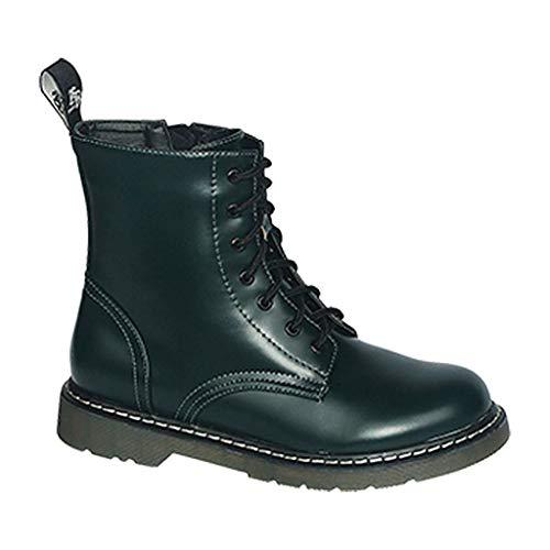 Commando Industries Knightsbridge 7 Loch Stiefel Dark Creationz Springertstiefel UK Gothic Boots 37-46 (42/8, Bottle-Green)