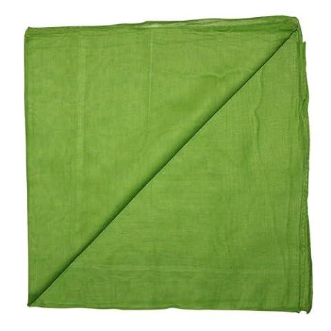 Superfreak® Baumwolltuch°Tuch°Schal°100x100 cm°100% Baumwolle, Farbe grün-hell