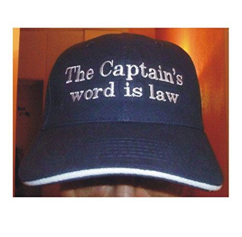 DelmarNautical Captains Cap Kapitäns Mütze Anker AnchorThe captains word is law...