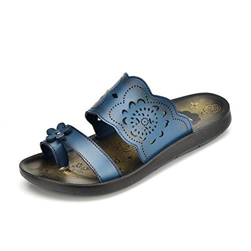 mère en chaussures d'été/Pantoufles/Un chaussons de flip flop/Fond plat moyens sandales B