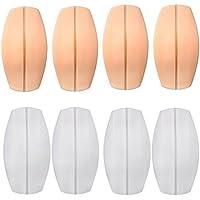 Healifty 4 pares de sujetador de silicona sujetadores de almohadones sujetador antideslizante almohadones almohadillas Protectores de hombro almohadillas aliviar la incomodidad del hombro (blanco y color de la piel)